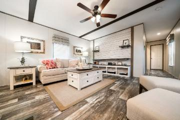 The Cozy Living Area of the EDG16723A Southern Homes Manufactured Home from Timberline Homes of Tuscaloosa, AL