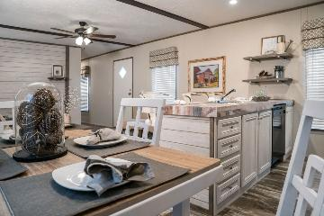The Cozy Living Area of the EDG16642A Southern Homes Manufactured Home from Timberline Homes of Tuscaloosa, AL
