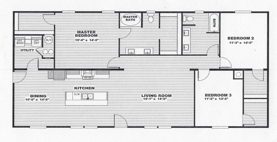 The Safari 32x64 Floorplan