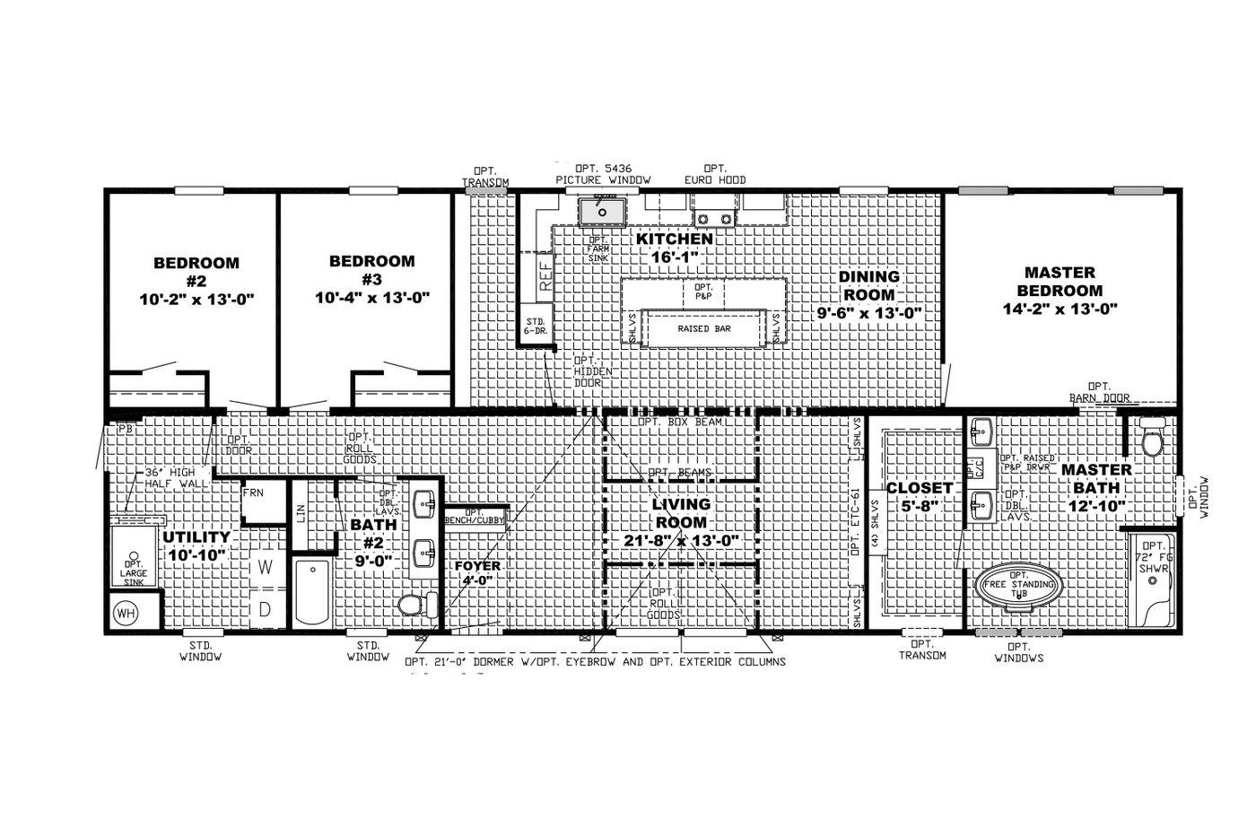 The Shoreline Floorplan