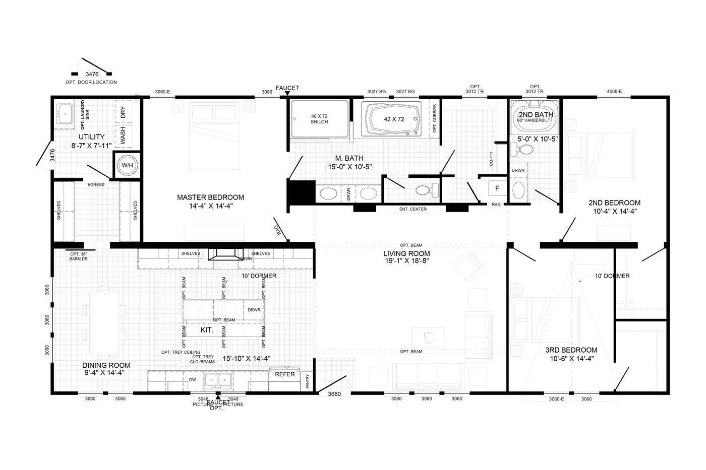The Liza Jane Floorplan